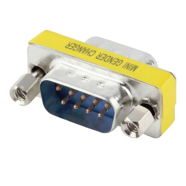 Atacado- em estoque! 1 pcs 9 Pinos RS-232 DB9 Macho para Macho Serial Cable Gênero Changer Adaptador Acoplador promoção