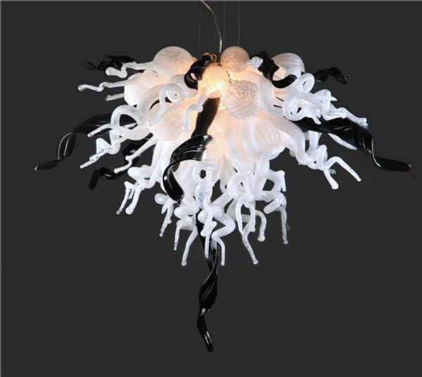 Großhandel Weiß Und Schwarz Hand Geblasenem Glas Kronleuchter Licht Günstige Und Klein Murano Glas Anhänger Lampen Türkisch Dekoration Lampen Von