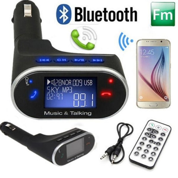 Tiptop NEW Bluetooth Car Kit MP3 Player FM Transmitter Modulator Remote USB SD DHL Free Shipping BT630