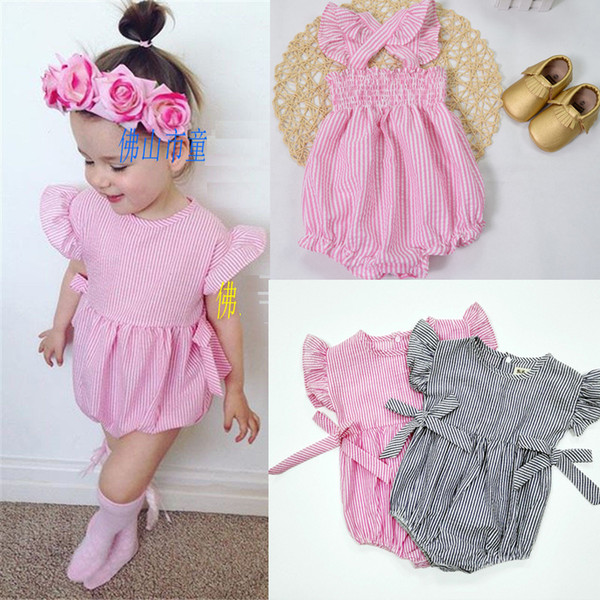 top popular 2016 New Photo Romper Toddler baby girls Clothing Set Cut summer Kids Jumpsuit baby crawling clothes baby romper 2019
