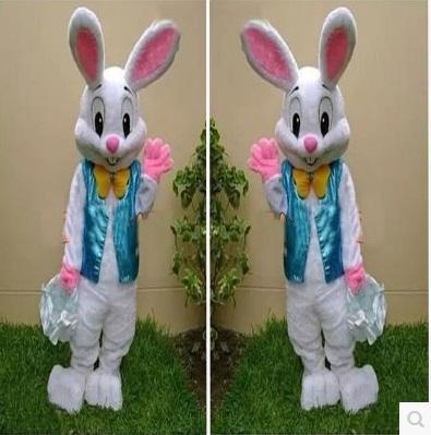 2016 nouveau professionnel lapin de Pâques mascotte bande dessinée vêtements adulte lapin bande dessinée mascotte costume déguisements livraison gratuite