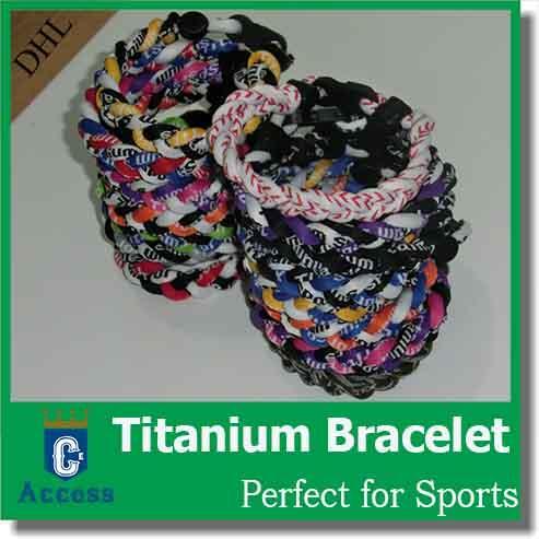 germanium titanium silicone energy sports braided bracelets