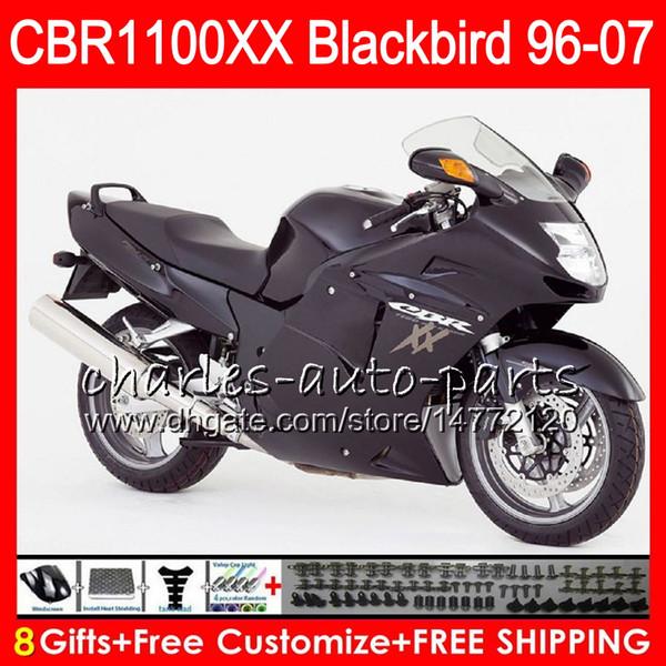 Body For HONDA Blackbird Matte black CBR1100 XX CBR1100XX 96 97 98 99 00 01 81NO27 CBR 1100 XX 1100XX 1996 1997 1998 1999 2000 2001 Fairing