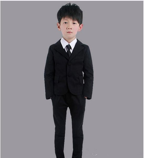 The little boy's most fashionable suit suits two-piece boys suit for formal occasions contracted fashion two-piece (jacket+pants)