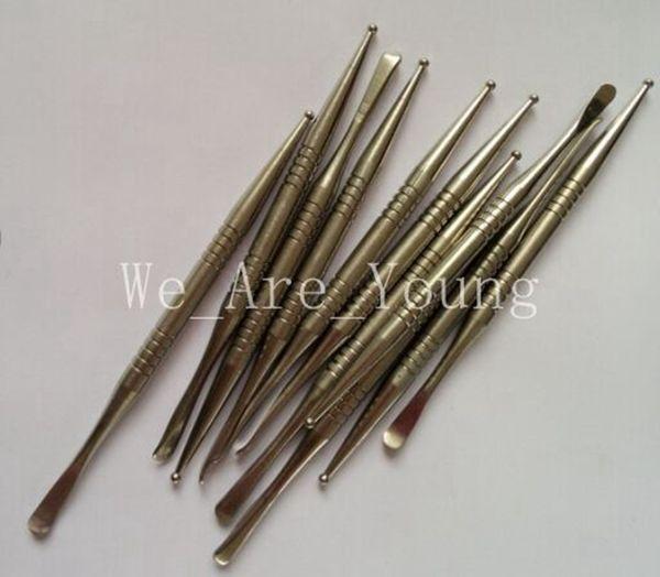 Top Quality Titanium Tool Gr2 Titanium Dabber lunghezza 110 mm con punta a sfera e doccetta punta cucchiaio