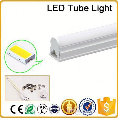 CE RoHS FCC 100mm T5 LED tube light high super bright 12W Warm/nature/cold white LED Fluorescent Bulbs AC85-265V integration tube