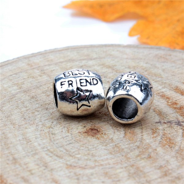 Replacement Alloy Charm Bead Best Friend Fashion Women Jewelry Stunning Design European Style For DIY Bracelet Necklace