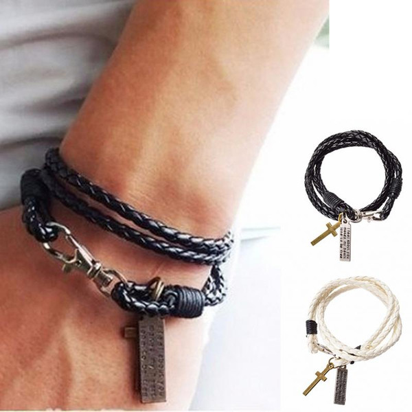 Very best Christmas Gift Hot Sale Men Jewelry Leather Pulseira Masculina  AN57