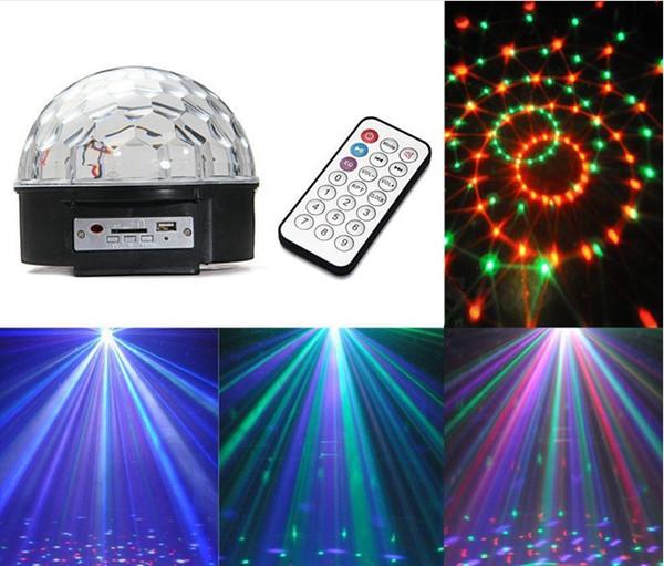 LED MP3 DJ Disco Party Club DMX512 Crystal Magic Ball Stage 18W RGB Light stage lights AC110V-220V