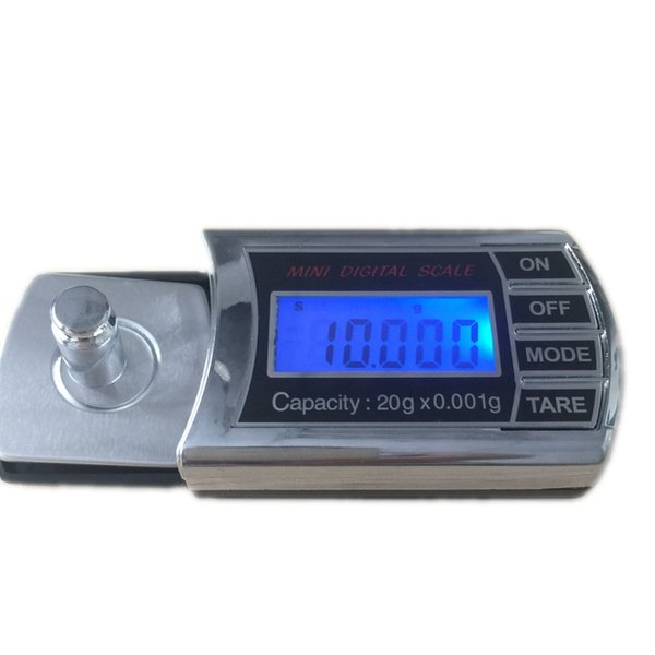 20g 0.001g Digital Diamond Jewelry Scales Portable Pocket Carat Electronic Weight Balance Scale Grams Free Shipping