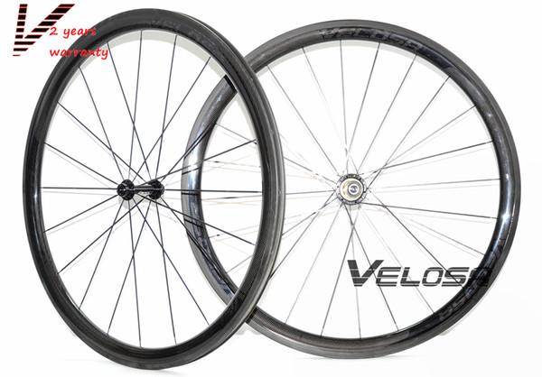 2 years warranty, Velosa super sprint 35 bike carbon wheelset, 38mm clincher/tubular ,700C road bike wheel