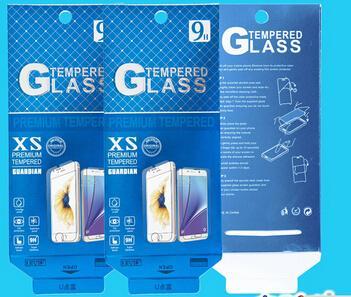 180 * 88mm Gold Color Universal Paquete de venta al por menor Caja de embalaje de papel para teléfono móvil Protector de pantalla de vidrio templado 500PCS / lot