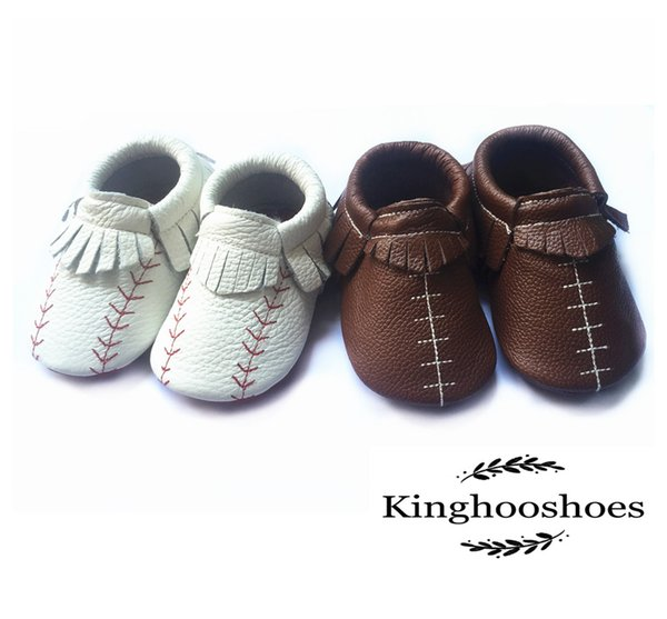 boys shoes baby football shoes leather baseball shoes moccasins for kid for baby infant booties first walker
