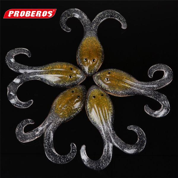 New Transparent octopus soft bait 10cm 14.6g soft fish fishing lure for reshwater fishing 5pcs/lot