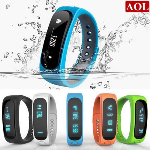 Smart Watch E02 Smart Wrist Smartband Waterproof Bluetooth Fitness Tracker Health Bracelet Sports Wristband Gear Fit Android IOS DHL free
