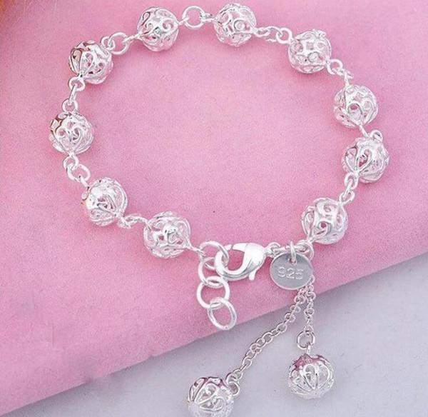 top popular 925 sterling silver bracelet, 925 sterling silver fashion jewelry Ball Bracelet  antajfaa ezdanqka best gfit cc789 2019