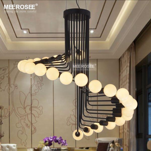 Modern Loft Industrial Chandelier Lights Bar Stair Dining Room Lighting  Retro Meerosee Chandeliers Lamps Fixtures Lustres Chandeliers For Bedrooms  ...
