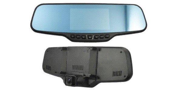 """Dual Lens Car Rearview DVR Mirror Camera Full HD 1080P 30FPS 12.0MP CMOS 4.3""""LCD 170 Degree View Angle With Rear Camera"""