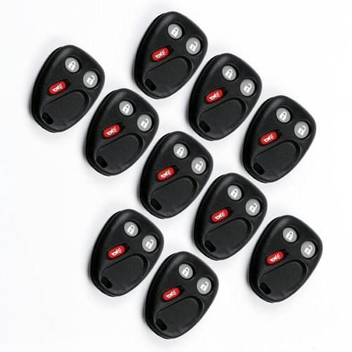 10Pcs Keyless Entry 3 Buttons & pad Smart Remote Car Key Shell Case Fob for Chevrolet Avalanche 1500 GMC Hummer Chevy Saturn Fob