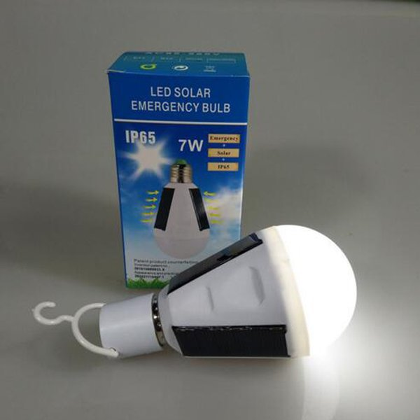 best selling Rechargeable E27 LED Solar Lamp 7W 85V-265V Outdoor Emergency Bulb Light Camp Night Travel Used 5-6hours