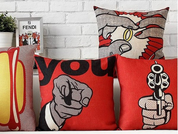 Fantastic You The Figure Ring And Gun Industry Red Andy Warhol Pop Art Pillow Decorative Pillows Euro Case Arts Popular Painting Gift Red Pillows For Couch Rust Creativecarmelina Interior Chair Design Creativecarmelinacom