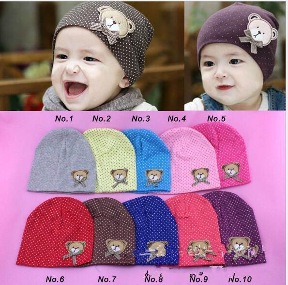 Toddler neonato caldo inverno cappelli uncinetto carino orso bambini bambini cotone neonato beanie cappelli ragazze dei ragazzi caps vendite calde per il regalo di natale