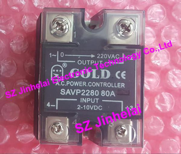 Relé de estado sólido novo e original do OUVIDO SAVP2280 CONTROLADOR de POTÊNCIA 220VAC 80A 2-10VDC