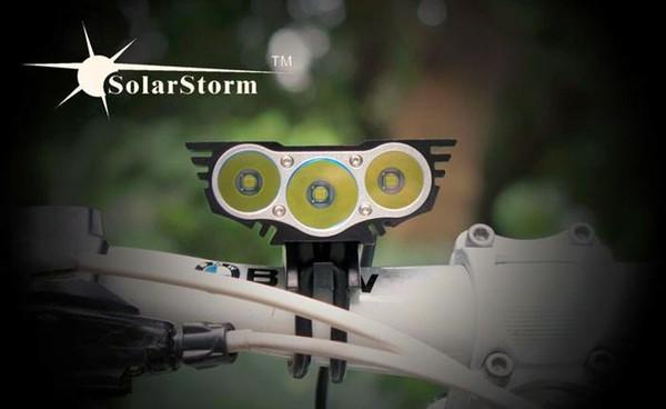 Großhandelsqualität Solarstorm X3 6000 Lumen CREE Fahrradlicht 3 LED Lanterna T6 Fahrrad-Frontseiten-Batterie-Satzzykluslicht