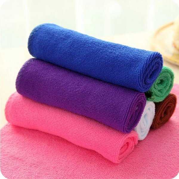 27.5*27.5cm East High Quality Kitchen Cleaning Set Washing Towel Wiping Rags Sponge Scouring Pad Microfiber Dish Cleaning Cloth