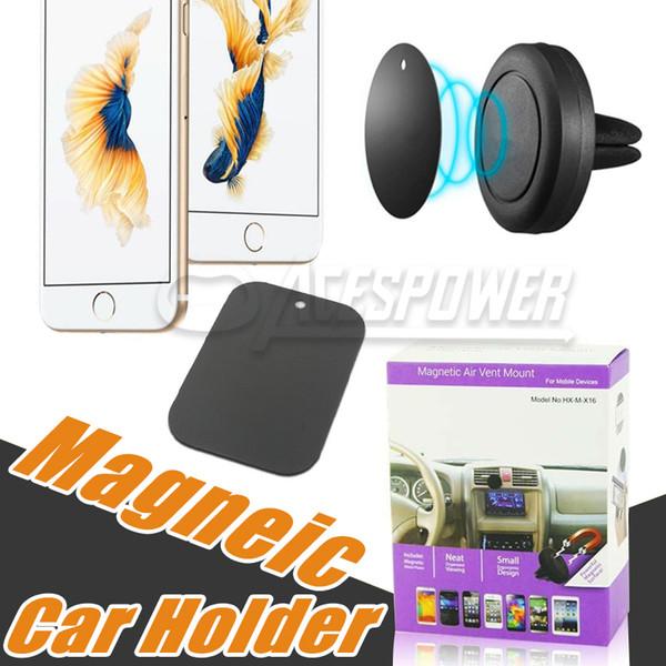 Supporto universale per telefono con magnete di sfiato aria per montaggio su auto per iPhone X 8 Plus Samsung Galaxy S10 Note10 Montaggio in un passaggio magnetico Guida più sicura