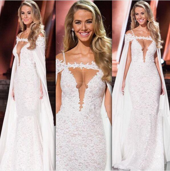 Vintage Full Lace Wedding Dresses 2017 Berta High Quality Sexy Spaghetti Straps Keyhole Neckline Bridal Dresses Pageant Celebrity Gowns