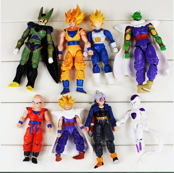 Dragon Ball Goku toy Dragonball Figure Action dolls ,Set Of 8 12-17cm Dragonball Action Figure Free Shipping
