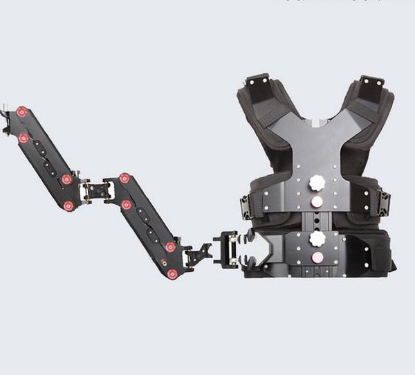 Freies Verschiffen Fabrik versorgung Carbon Steadycam Stabilisator Doppelgriff Arm Weste Kamera Stabilisator für DSLR DV Laden 2,3-8 kg