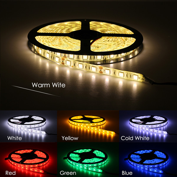 top popular LED Strip 5050 DC12V 60LEDs m 5m lot Flexible LED Light RGB 5050 LED Strip 150 Meter By DHL 2019