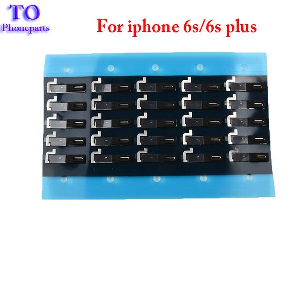 Para iPhone 6 6S 7 Plus Auricular Auricular Parlante autoadhesivo Pantalla de polvo Parrilla Rejilla con junta de goma
