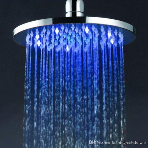 rain shower head water pressure. 8 inches Water Pressure Powered Colours Led Rain Shower Head Rainfall  Heads Showers