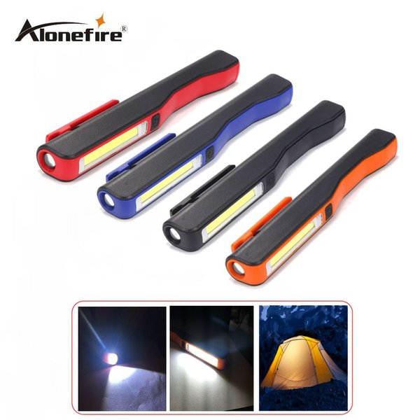 AloneFire C018 Portable MiniUSB Led Hand Torch USB Rechargeable Magnet Clip Work Light Inspection Lamp