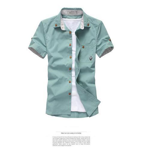 top popular 2020 free shipping new men's spring and summer short-sleeved shirt men short sleeve shirt men's fashion boutique 10 color 2020