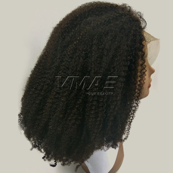 Mongolian Afro Kinky Curly Wigs Lace Front Human Hair Wigs Pre Plucked Hairline With Baby Hair for Black Women 4A 4B 4C VMAE Hair Wigs