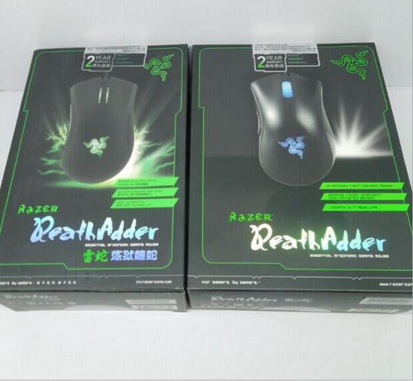 Razer Death Adder Mouse 3500DPI Wettbewerbsfähige Spiele Optische Maus für Spiel-Computer-Maus Mit der Kleinverpackung geben Sie Schiff frei