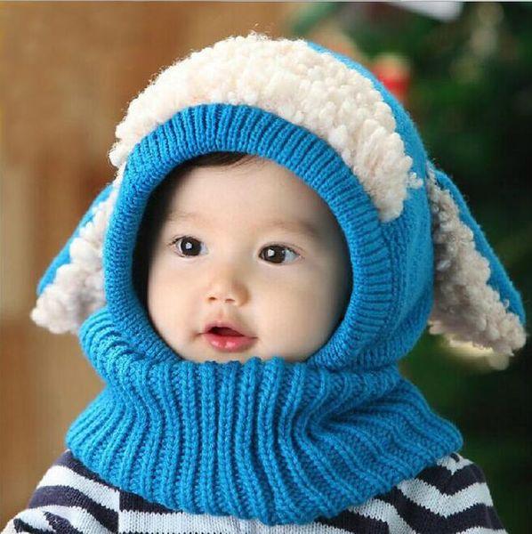 Winter Baby Hat and Scarf Joint With Crochet yarn Knitt Caps for Infant Boys Girls Children Newborn Fashion Kids Neck Warmer yarn beanie