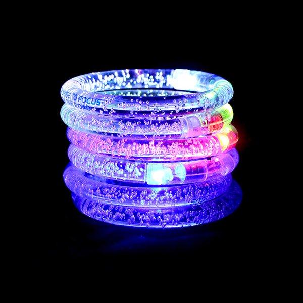 DHL Ücretsiz Nakliye renk değiştirme kart ambalaj noel için LED bilezik Light up Bilezik aydınlık bilezik, Cadılar Bayramı Partisi Dekorasyon