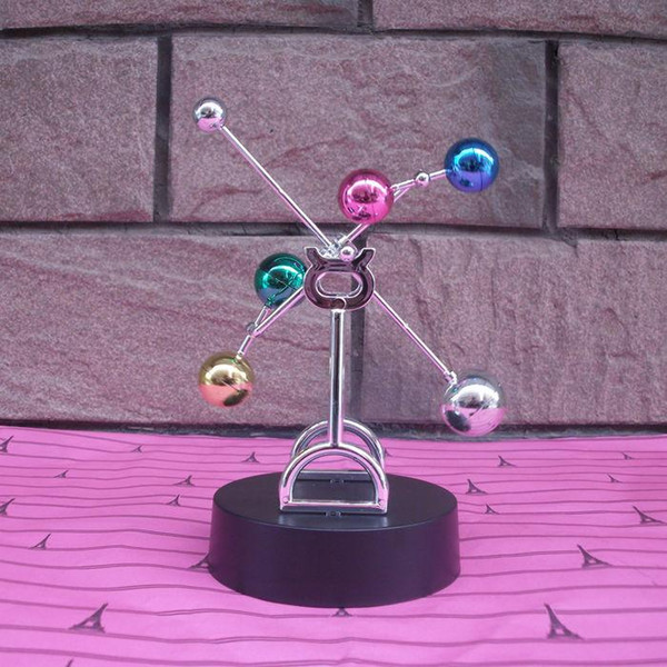 Colorful ball perpetual motion machine perpetual motion celestial instrument Yong Heng pendulum swing is the ferris wheel creative novelty b