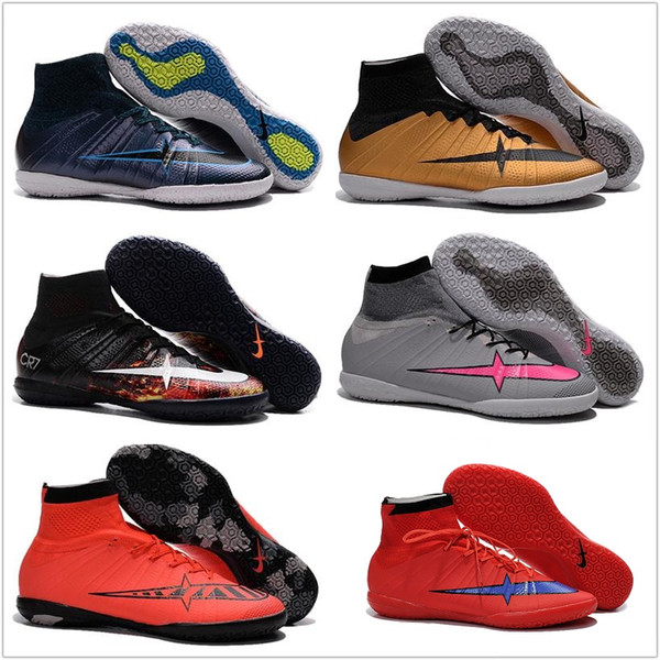 d3e4c3964 Kids Girls Cheap Football Shoes Mercurial X Proximo Street Indoor IC CR7  Men Soccer Shoes 2016