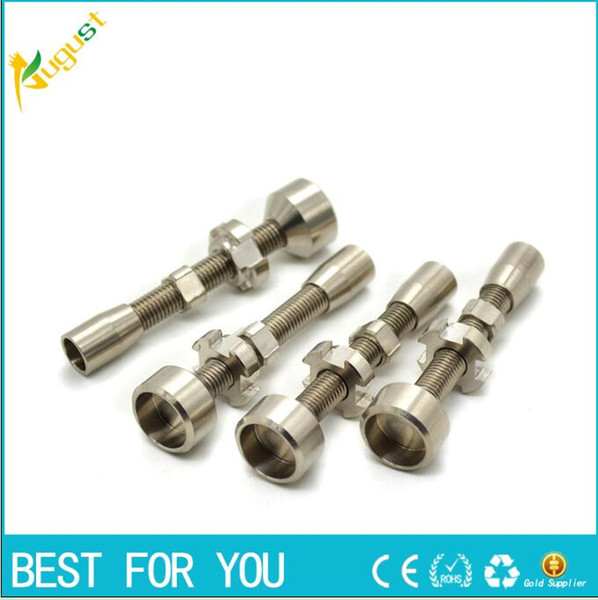 top popular Double Adjustable Grade 2 Titanium Nail Fits female joints,we also offer quartz nail ceramic nails glass nail 2021