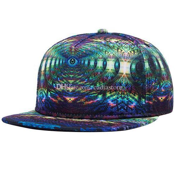 3D глаз карта равнина Snapback шляпы хип-хоп регулируемая BBoy бейсболка C00268 бард