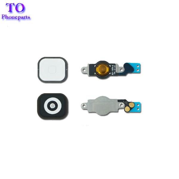 Siyah Beyaz iphone 5 5G 5C Ana Düğme Flex Kablo Braketi Tutucu Anahtar Şerit Kablo Parçaları Değiştirme