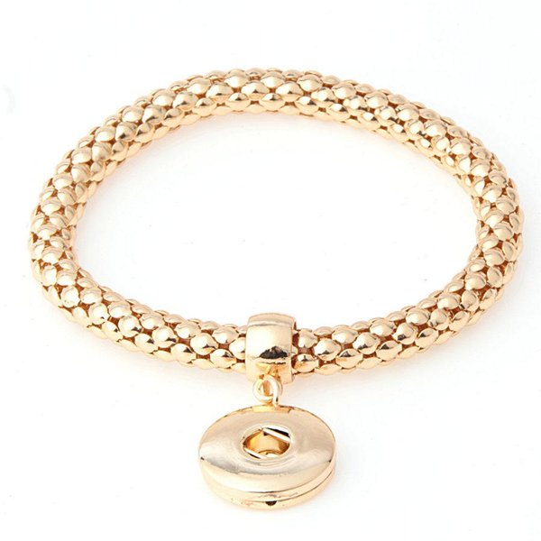 Noosa Bracelets Jewelry Interchangeable 18mm Ginger Gold Silver Snaps Button in Charm NOOSA Buttons Women Chain Bracelets Bangle Jewellery