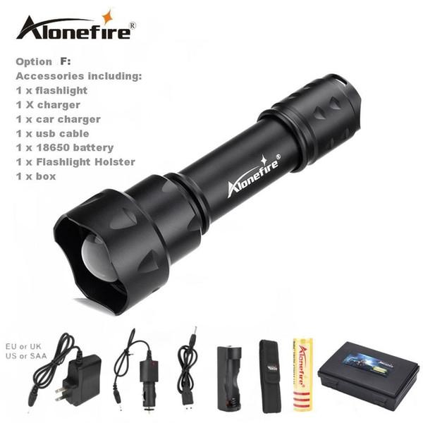 ALONEFIRE TK20 Flashlight ZOOM CREE 1200LM Waterproof Lanterna LED 3 Modes Zoomable Torch 18650 battery Flashlight Linterna