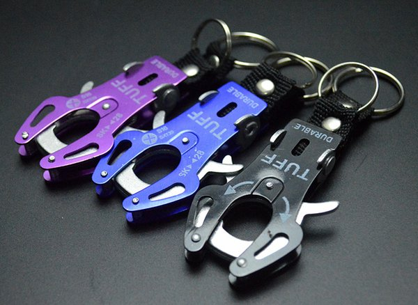 Free shipping Fashion Durable Snap Clip Climb Hook Carabiner Clip Lock Keychain Keyring Key Ring